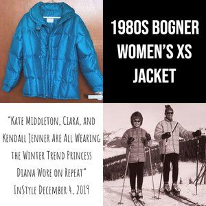 Rare early 1980s Bogner Puffer Jacket Women XS
